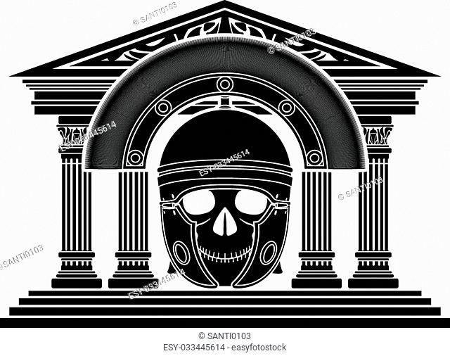 skull of roman centurion