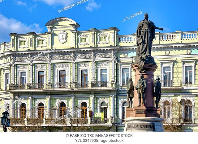 Ekaterininskaya square and the Monument to the founders of Odessa, Odessa, Ukraine