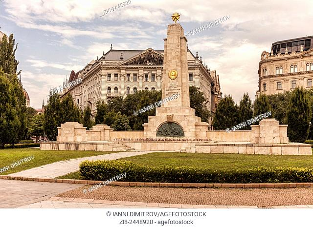 Soviet Red Army memorial in Freedom Square,(Szabadság tér)Budapest,Hungary