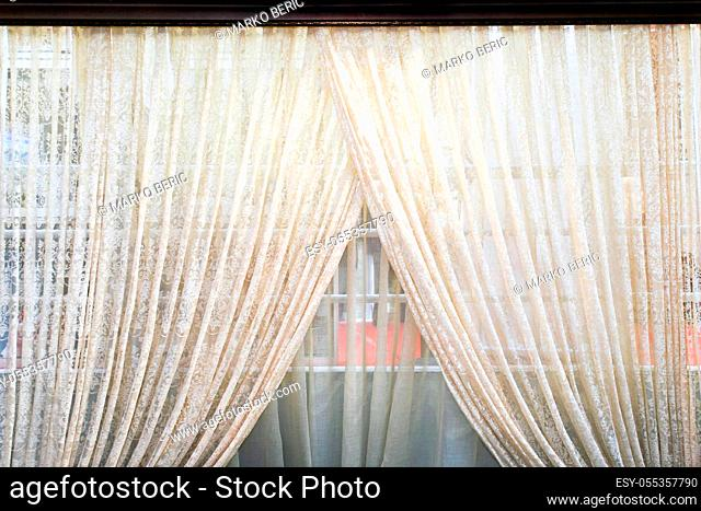 Old semi transparent double side light curtains