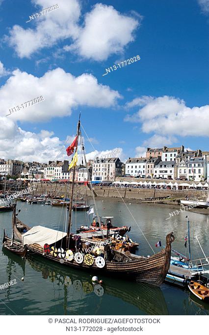 The port during 'temps fete douarnenez 2012' international maritime festival, douarnenez france