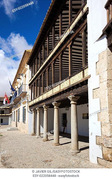 Main Square of 17th Century in Tembleque, Toledo province, Castilla la Mancha, Spain