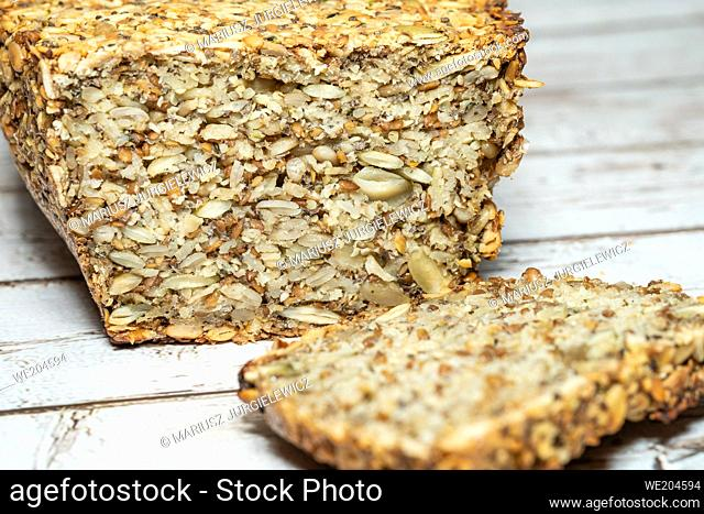 Making the bread for people who are gluten intolerant, make sure to use oats that are certified gluten-free. The psyllium seed husks provides a binder for the...
