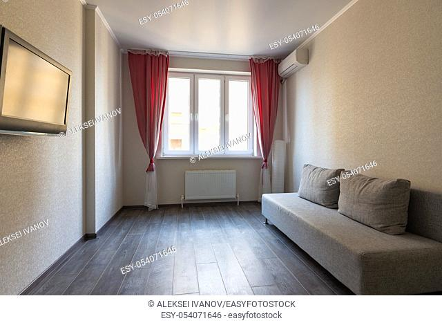 Interior of a small room in the apartment for rent