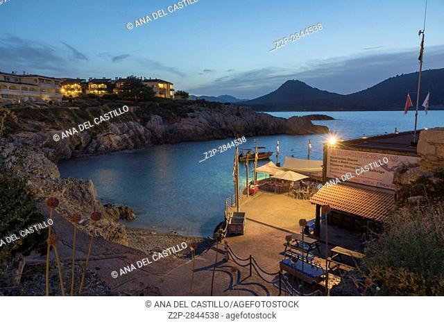 Night seascape in Cala Ratjada Majorca island Balearic islands Spain