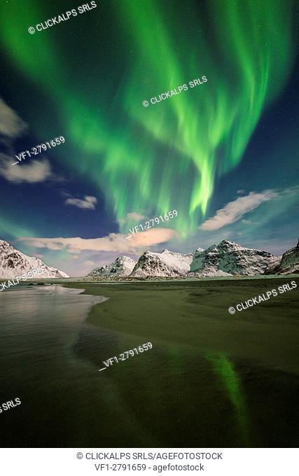 Skagsanden beach - Lofoten Islands,Norway