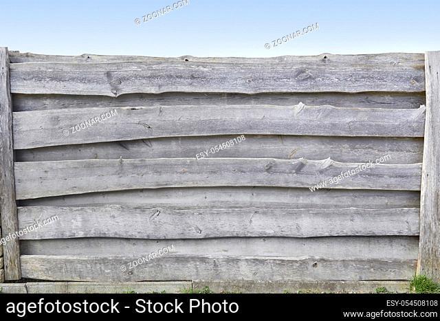 Rustikaler alter Holzzaun, Detail. Texture