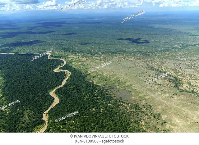 Aerial landscape, Tanzania, East Africa
