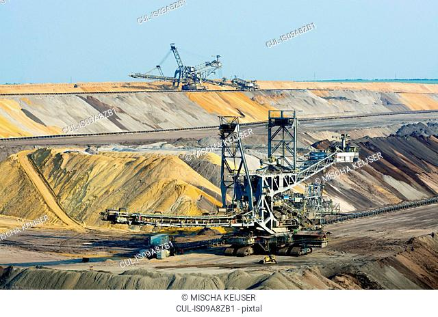 Opencast brown coal mining, Juchen, Germany
