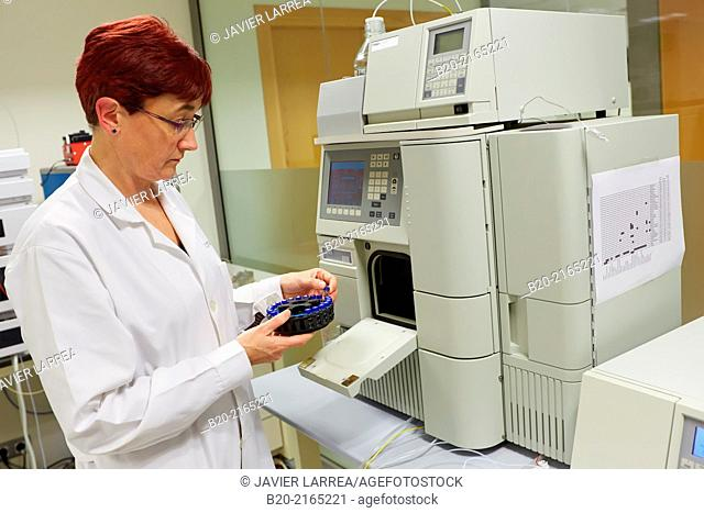 HPLC. High-performance liquid chromatography. High-pressure liquid chromatography. Technique in analytic chemistry used to separate the components in a mixture