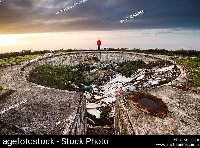 Illegal dump in old military area, Ferrol, Spain