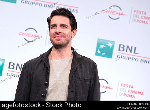 """Giampaolo Morelli attend the photocall of the movie """"""""Maledetta Primavera"""""""" during the 15th Rome Film Festival on October 21, 2020 in Rome, Italy"""