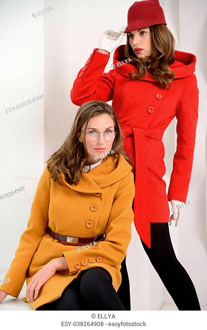 dcfbc7e73 Dress overcoat girl Stock Photos and Images