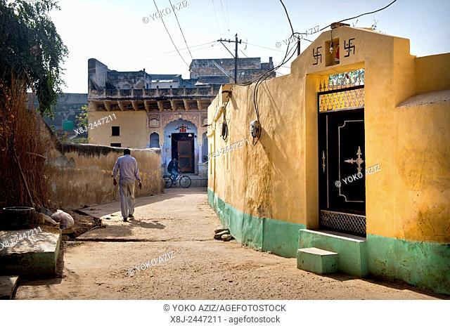 India, Rajasthan, Nawalgarh, daily life