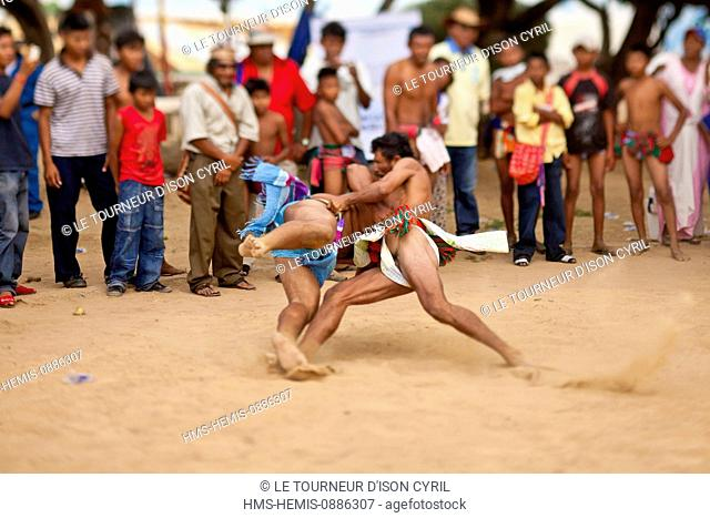 Colombia, La Guajira Department, Uribia, sports trial during the cultural annual Wayuu Festival