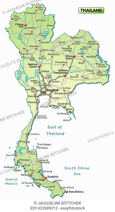 Thailand Karte.Karte Von Thailand Stock Photos And Images Age Fotostock