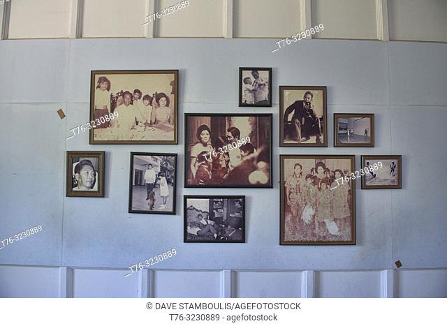 Old photos in the Malacañang of the North Palace, Ferdinand Marcos former summer home, Paoay, Ilocos Norte, Philippines