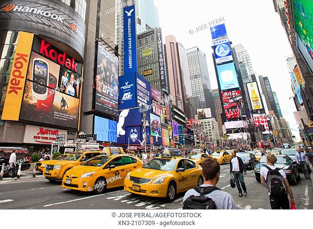 Times Square, Midtown, Manhattan, New York, New York City, United States, USA