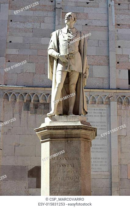 Poet statue located at Piazza Torre, Modena