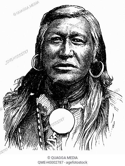 Portrait of a Shoshone of America