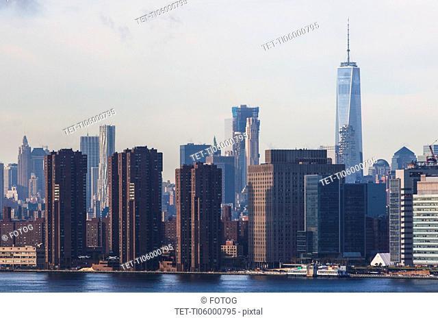 USA, New York State, New York City, Manhattan, City skyline