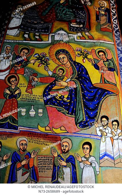 Ethiopia, Amhara Region, Bahir Dar, Lake Tana Monastery Orthodox Betre Mariam