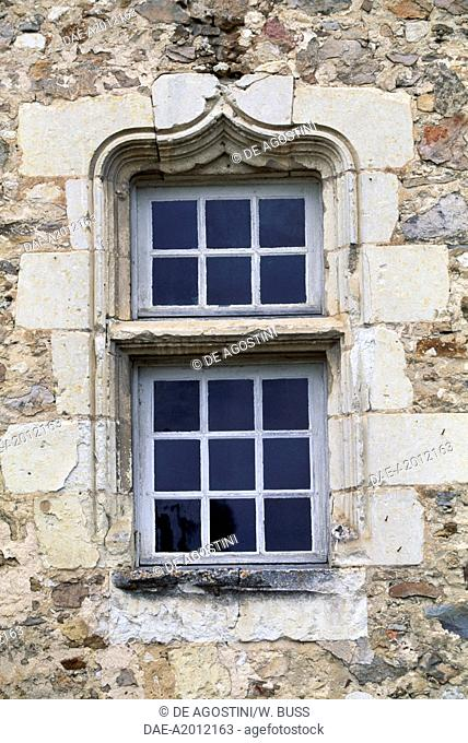 Window of Chateau de Bauge, Pays de la Loire. France, 15th century