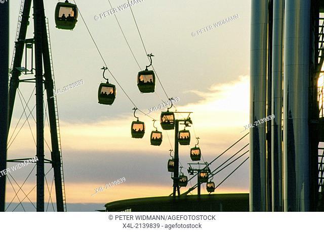 Expo 2000, gondolas, Germany, Hannover