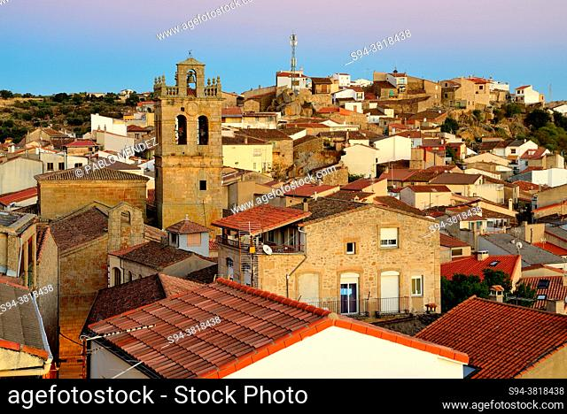 View of Fermoselle from a lookout, Zamora province, Spain