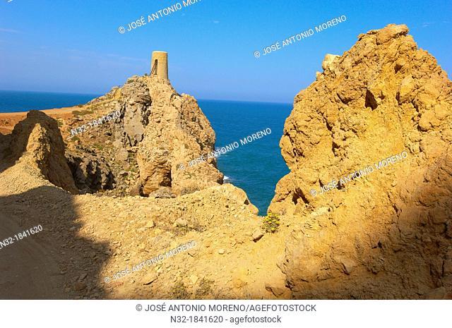 Mojacar, Pirulico Tower, Almeria province, Andalusia, Spain