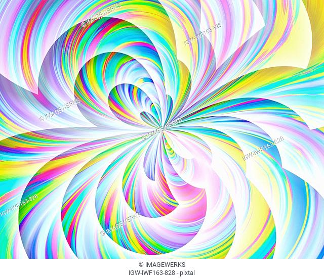 Abstract multi colored pattern