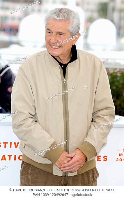 Claude Lelouch at the 'Les plus belles années d'une vie / The Best Years of a Life' photocall during the 72nd Cannes Film Festival at the Palais des Festivals...