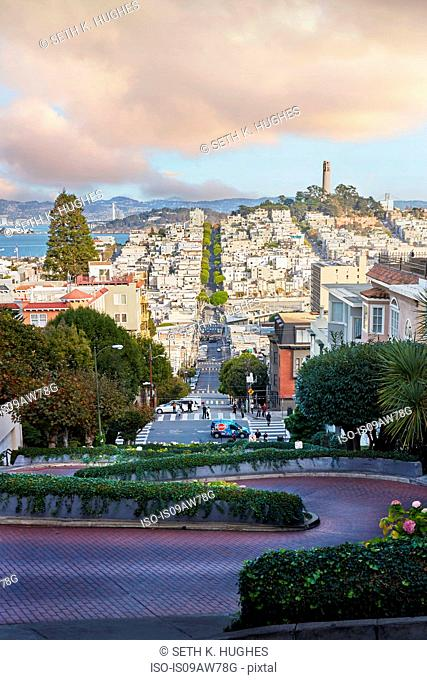 View from hilltop, San Francisco, California