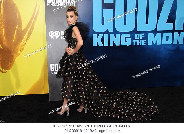 """Millie Bobby Brown at the Warner Brothers Pictures World Premiere of """"""""Godzilla King Of The Monsters"""""""". Held at the TCL Chinese Theater in Hollywood, CA, May 18"""