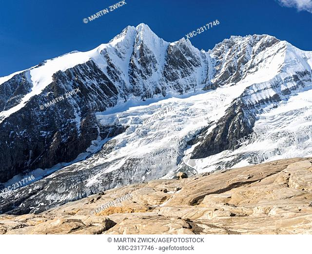 Mount Grossglockner (3798m),the highest mountain in Austria and symbol of the Nationl Park Hohe Tauern. Europe, Central Europe, Austria, September