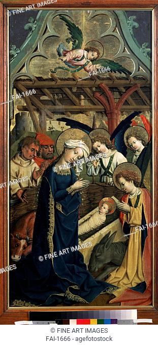The Nativity of Christ. Master of the Lichtenstein Castle (Mid 15th century). Oil on wood. Renaissance. c. 1440. State A