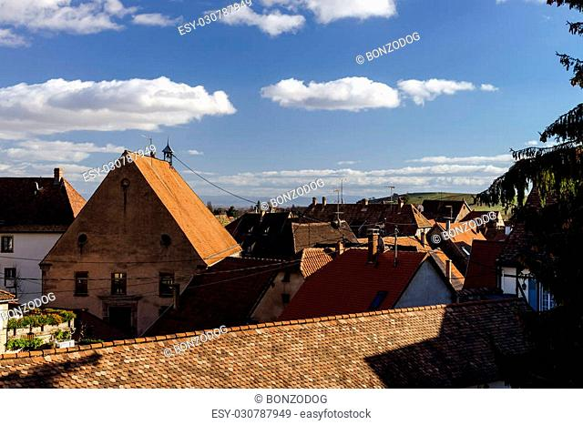 Andlau village tipical view, Alsace, France