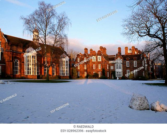 College Hall in winter