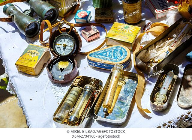 Old objects. Witchery Week 2016. Bargota, Navarre, Spain, Europe