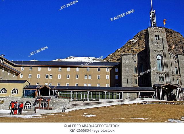 Monastery of Nuria, Vall de Nuria, Catalonia, Spain