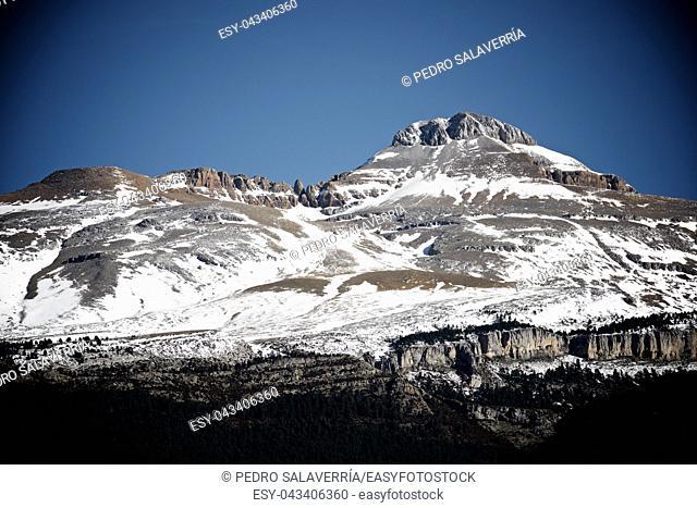 Collarada peak in Canfranc Valley, Aragon, Huesca, Spain