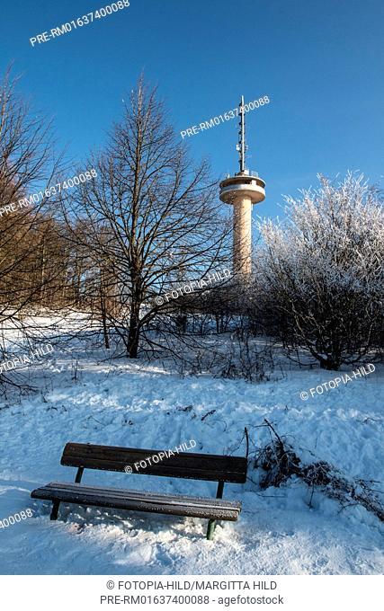 The Gaußturm, Samtgemeinde Dransfeld, Göttingen district, Lower Saxony, Germany / Der Gaußturm, Samtgemeinde Dransfeld, Landkreis Göttingen, Niedersachsen