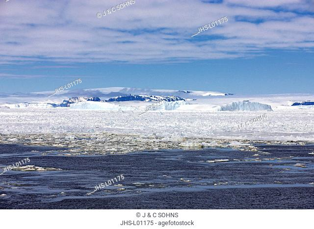 Pack Ice, Antarctica, Weddell Sea, in summer