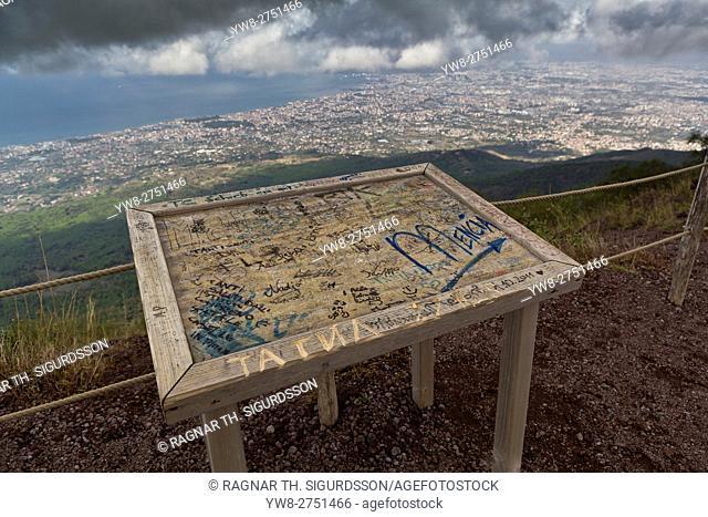 Overlooking Naples from Mt Vesuvius, Italy