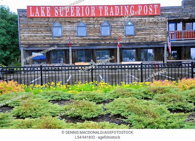 Shops in Grand Marais Minnesota along Lake Superior
