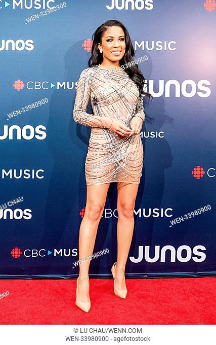 2018 JUNO Awards, held at the Rogers Arena in Vancouver, Canada. Featuring: Keshia Chante Where: Vancouver, British Columbia