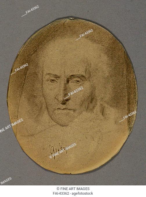 Portrait of the composer André-Ernest-Modeste Grétry (1741-1813) by Anonymous /Pencil on Paper/Neoclassicism/France/Philharmonie de Paris/8x6