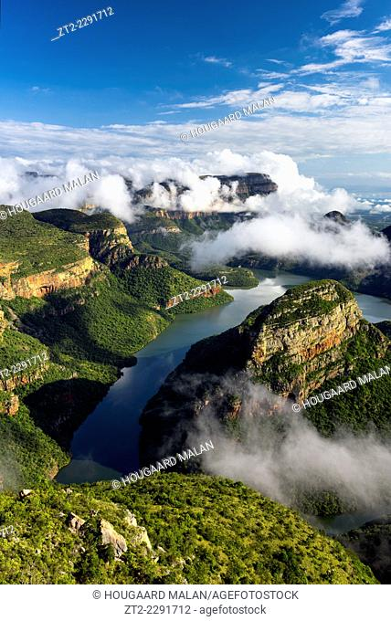 Landscape photo of a beautiful summer morning over Blyde River Canyon. Mpumalanga, South Africa