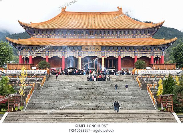 Da Xiong Bao Dian, Great Hall, Chongsheng Temple, Dali, Yunnan Province, China