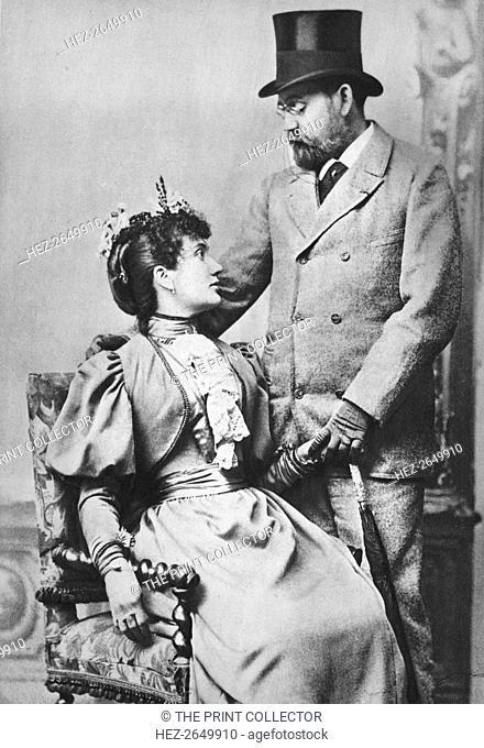 'Emile Zola and Jeanne Rozerat', c1890, (1939). Artist: Pierre Petit